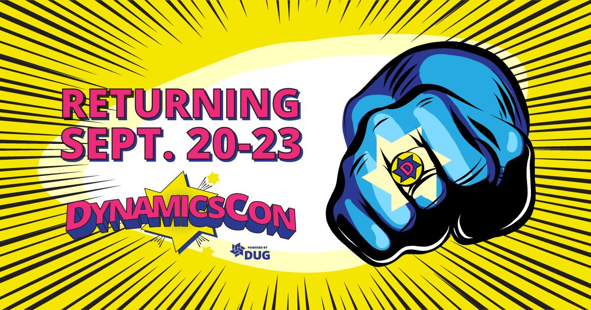 DynamicsCon - Powered by DUG - Returning September 20-23, 2021